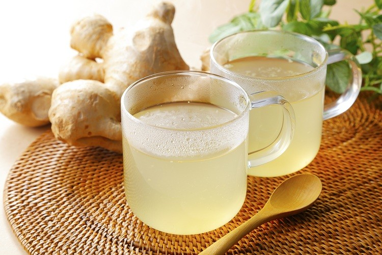 Chá verde com Gengibre